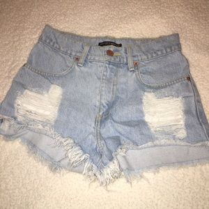 Brandy Melville High Wasted Jean Shorts